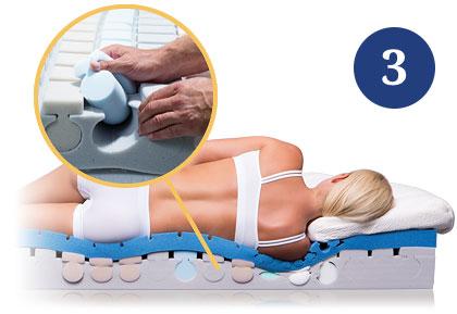Schritt 3 Stützeinlagen Matratze Matratzenhersteller Körperstützdaten Liegesimulator Siesta Bettenstudio